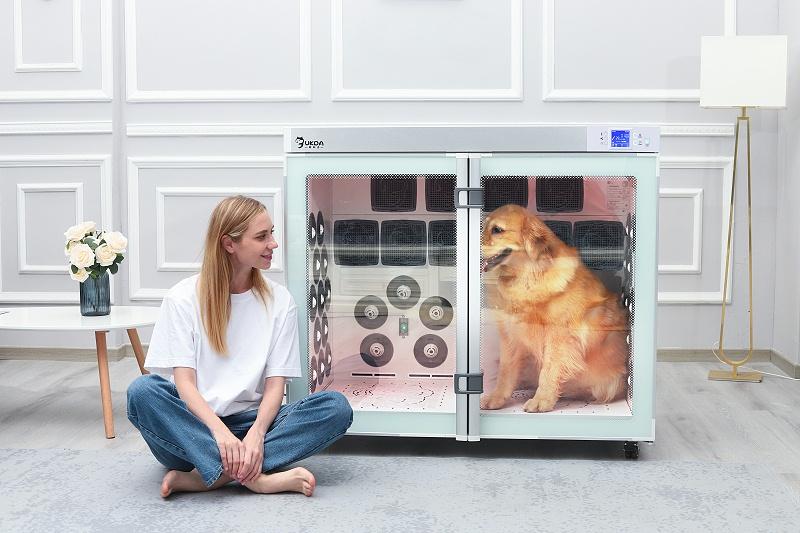 这款宠物烘干机太牛了!360度出风,吹猫吹狗有它就够了!