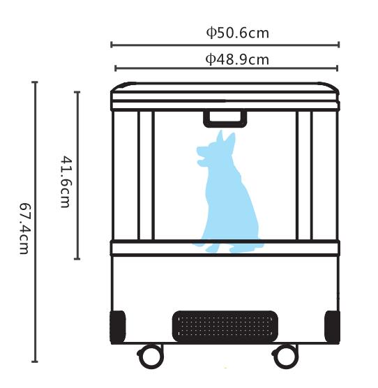宠物烘干机K5尺寸图
